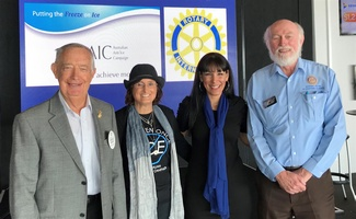 Photo (from left): Harold Bush (Rotary Club of Broadbeach), Leeanne Butcher, Andrea Simmons, Adrian Crowe.